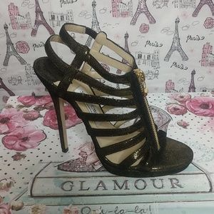 Jimmy Choo - Black/Bronze Metallic Glenys Shoes